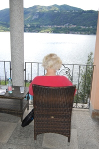The Nance was reading on the deck at her room.