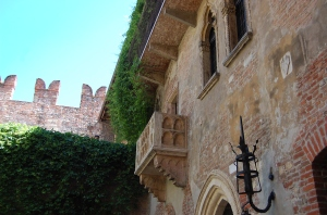 Romeo climbed up to be with Juliet here.  In Verona.