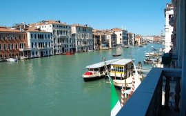 The view from our room (#216) down the Grand Canal is breathtaking.