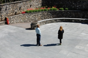 Amy and Mike Roach (not Brock) casting sibling shadows.