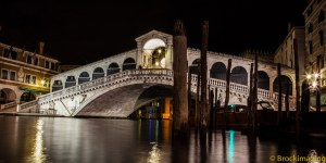 The Rialto Bridge at night.  Another Brock magical image.