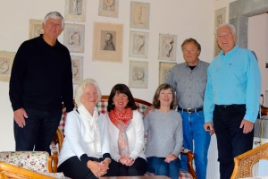 The Boyds, Roachs and Staffords pose for the group shot before leaving the Villa.