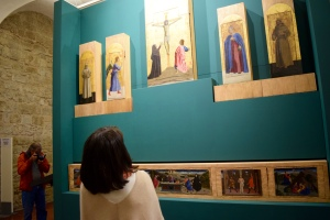 """Here's on of his most famous """"polyptychs"""" as it has been restored.  See Butch using his new camera there on the left?"""