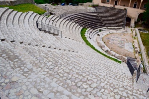 The Roman theater is big and almost completely un-earthed.