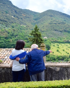 Our guide - let's call him Nono (the Italian word for grandfather) is getting really chummy with our Italian speaker.