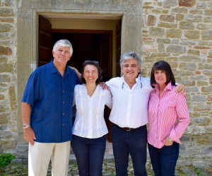 The Boyds with owners Marilisa and Riccardo Parisi.