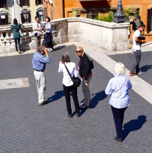 A conference ensues to choose the route for our three hours.  We want to end somewhere near the Castel San Angelo...another of Patricia and Craig's suggestions.