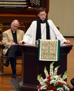 Rev. Walters gives his sermon.