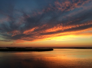 We'll miss the sunsets from the dock of the bay. At Chautauqua we will have to bike down to Lake Drive to take a photo.