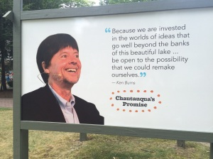 Here's our favorite Chautauquan - Ken Burns. He spent an entire week here in 2014.