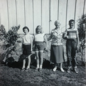 Susie Howard, Christy Roach, Nana Roach and little Chippy Roach...circa 1955.