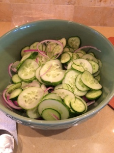 So many Cucumbers, we reverted to last year's strategy and went to the Bread and Butter Pickle recipe.