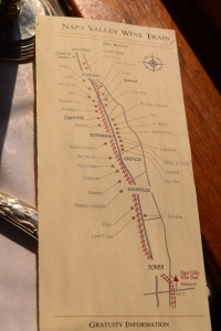 Napa's first stop is the wine train...from Napa to St. Helena...delicious food and a little wine.