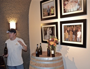 Ryan explains the other 3 family wineries who rent cave space from him and run events together. Tomorrow is a
