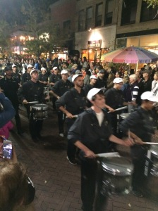then, the really loud drummers marched by. I have a video, but don't think it will upload for this.