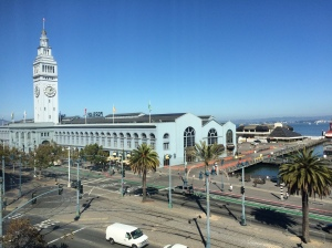 This is the Ferry Building down to the left.