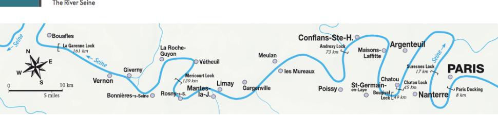 2016 06 02 Normandy trip map of Seine near Paris