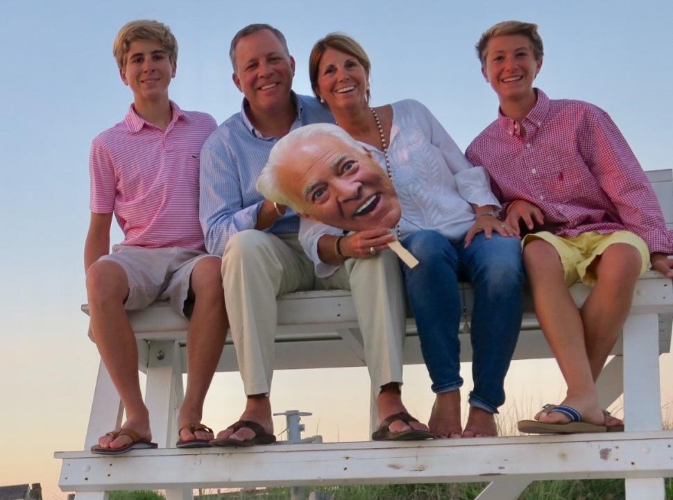 Roach family on beach