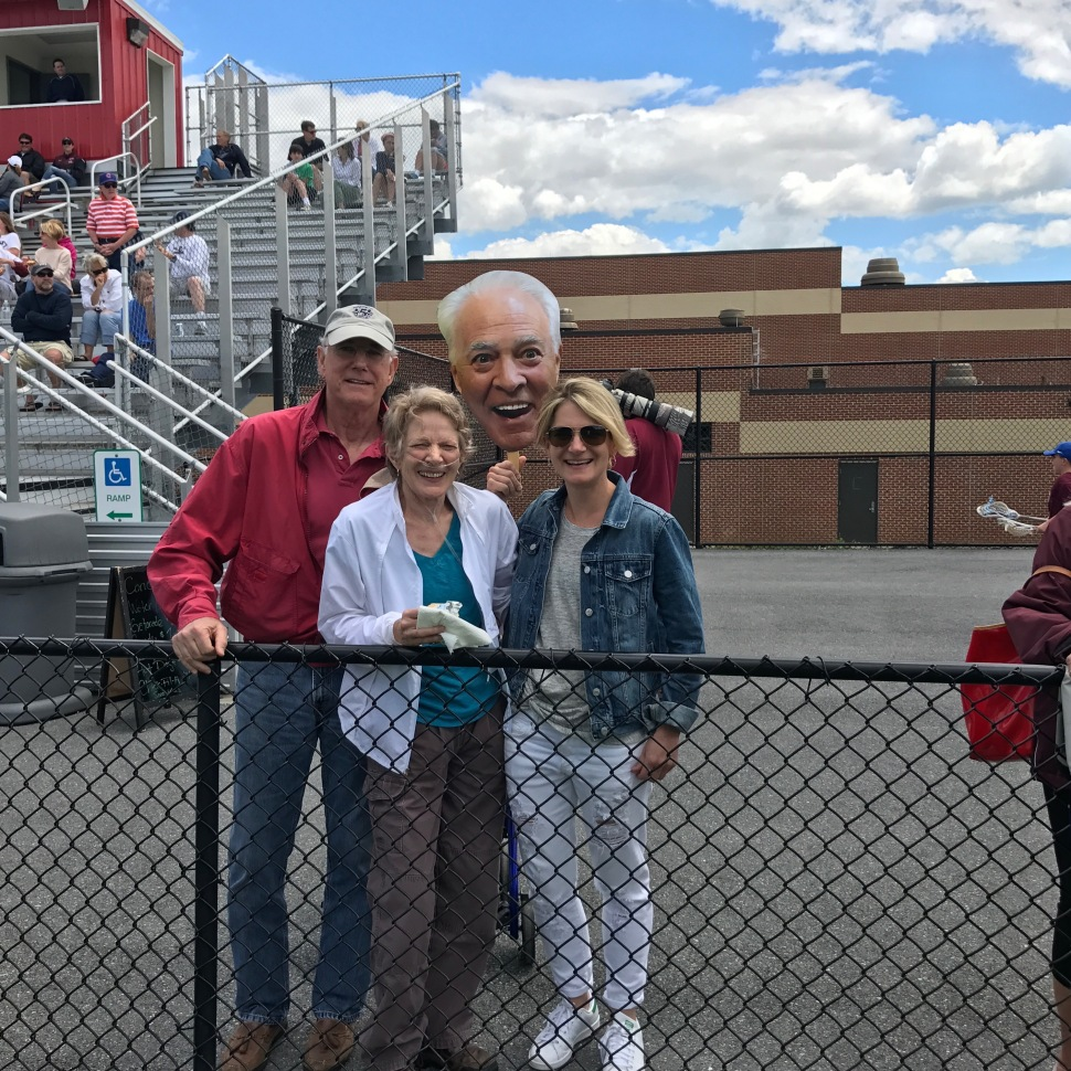 Sallie & Family & Chip at the Conestoga Boys Lax game